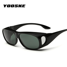 YOOSKE Men HD Vision Polarized Glasses UV400 Protective Over Wrap Around Sunglasses for Men Driving Safety Sunglass Night Vision(China)