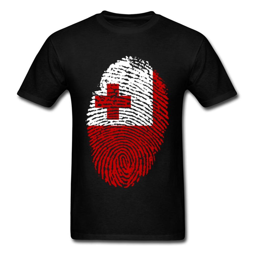 Tonga Flag Fingerprint_black