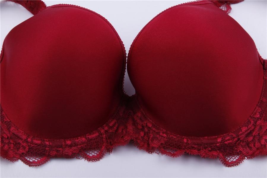 Plus Size Bra Set 3D Air Mesh Breath Underwear Full Cup Minimizer Women Lingerie Lace Intimates Ladies Bra and Panty Set Quality 33