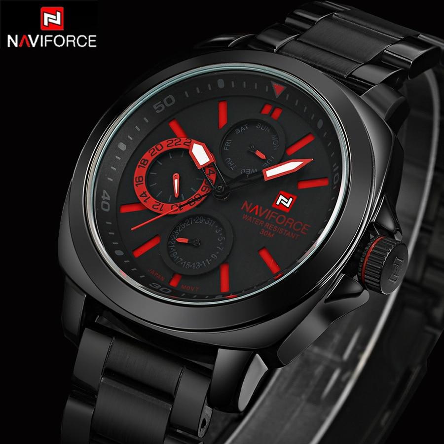 2016 Men Watch Genuine Stainless Steel Luxury Men Watches Quartz Wristwatch CHRONOGRAPH 24 hours Function Sport Watch relogio<br>