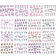 48 Designs/sets DIY Flower Beauty Nail Art Sticker Tips Decoration Manicure Nails Wrap Temporary Tattoos Tool TRA433-480(China)