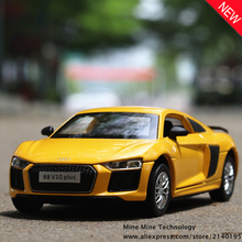 MINI AUTO 1:32 Audi R8 supercar Alloy Diecast Car Model Pull Back Toy Electronic classical children Kids Toys - Mine Technology store
