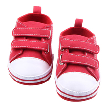 Baby Canvas Sneakers for Girl Shoes Hook-Loop First Walker Rubber Sole Slip on Newborn Crib Shoes Infant Prewalker Toddler Gifts