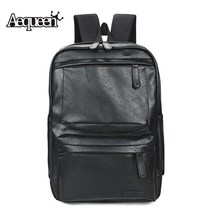 AEQUEEN New Fashion Leather Backpack Men High Quality Multifunction Laptop Backpacks School Bags For Teenagers Boys Male