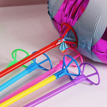 50Pcs/lot Foil Balloon Stick Balloon Prop Rod with Colorful PVC Cups Festival Wedding Party Decoration Accessories 40cm