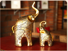 European elephant statue Animal ornaments Home decor lucky living room cabinets decoration wedding gifts D35279