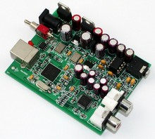 New XMOS U8 + AK4490 USB DAC Decoder Sound Card Headphone Output , Free shipping