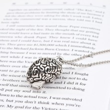 "DoreenBeads New Fashion Necklace Ball Chain Antique Silver Cerebrum /Brain Human Body Pendant 70.0cm(27 4/8"") long, 1 Piece"