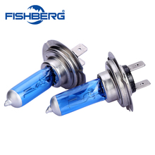 2pcs H7 Xenon Halogen Low Beam Light Bulbs Auto HeadLight Bulb 5500-6000K 12V 55W Parking H7 Car Styling For chevrolet