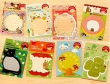 1PC/Lot  New cartoon animal sticky  notes & romantic serie notepads / Multifunction label / memo pad / fashion gift