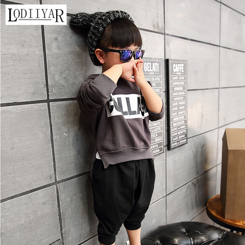 Childrens Sets, 1pcs Hoodie + 1pcs Pants Clothes Suit, Cotton Korean Boy Girls Winter Sport Suit, Fashion Letter Kids Clothes<br><br>Aliexpress