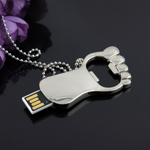 Beer Bottle Opener USB Flash Drive 512GB Memory Disk One Key Pen Drive 32GB 16GB 64GB Waterproof Stainless Steel Gift 128GB 2.0