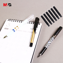 M&G elegant ink fountain pens set for school supplies high quality simple office pens for writing stationery gift for kid friend(China)