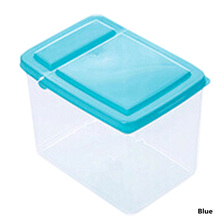1PC Kitchen Half Flip Cover Food Storage Box Airtight Plastic Containers Sealing Cans For Coarse Cereals And Grains(China)