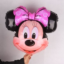"50pcs 28""X26"" Minnie Mickey Mouse Inflatable Ball Party Baby Shower Foil Balloons Birthday Supplies Decoration Kids wedding(China)"