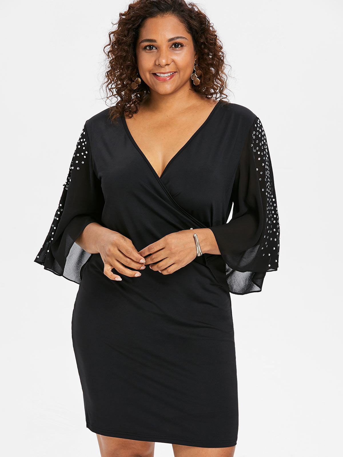Detail Feedback Questions about Wipalo Plus Size 5XL Flare Sleeve ... 1f8625194df3