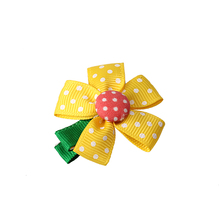 M MISM Kids Hair Clips bowknot Ribbon Headgear Bow Flowers Hair Clip Baby Girls Hair Bows Hair accessoires children's cosmetics(China)