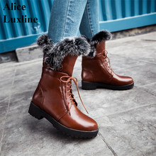 2016 Hot sale Lace Up Winter Women mid-calf Boots Booties Ladies Fashion Snow Boots casual motorcycle shoes 9 9.5 10 usa size CA