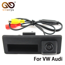 Sinairyu Special Trunk handle CCD Car Rear View Camera Reverse Backup Camera For Audi A4 S4 A6 Waterproof Auto Parking Camera(China)
