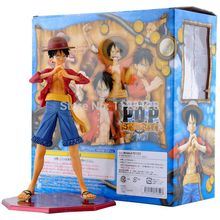"Cool 9"" One Piece Monkey D Luffy PVC Action Figure Collection Model Toy Head and hands can transform(China)"