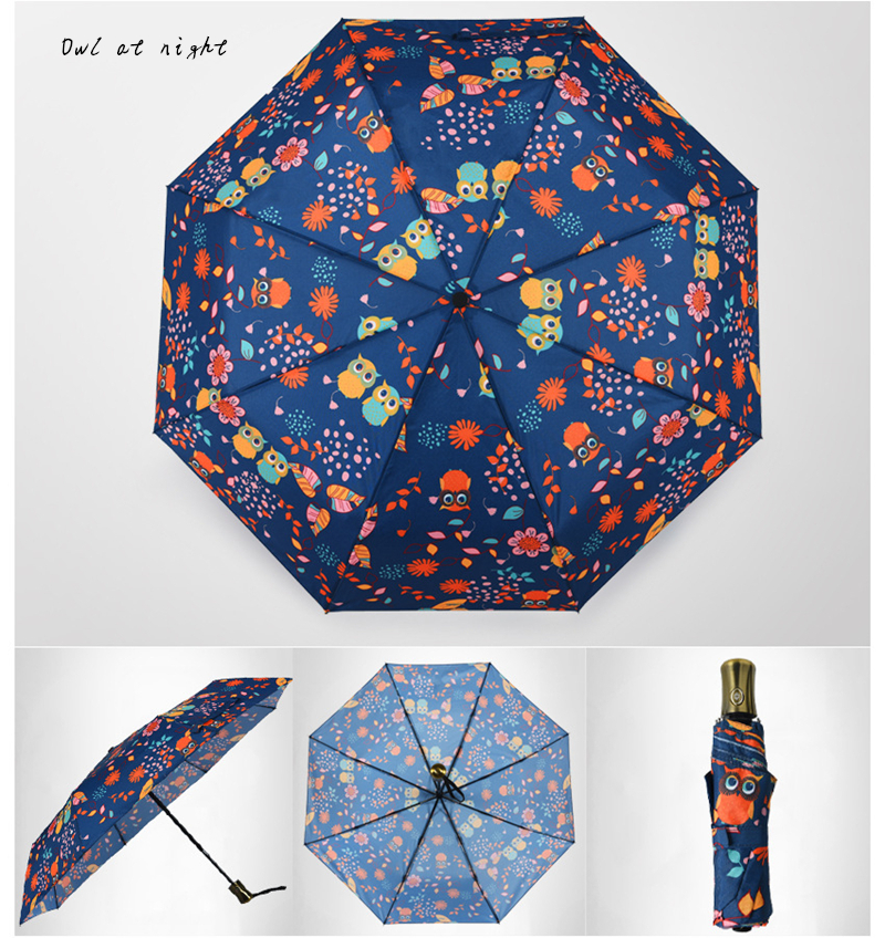 Full Automatic Fashion Folding Sunny Rainy Van Gogh Oil Painting ...