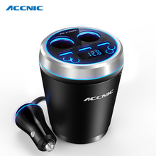 Accnic C1 TF/Miscro SD Music MP3 Player Handsfree Bluetooth Car Kit FM Transmitter Support SD U disk(China)