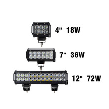 18W 36W 12 inch 72W Led Light Bar For Trucks 4WD ATV 4x4 Offroad Motorcycle Automobile Barra Light  Work DRL 12V Focos Off road
