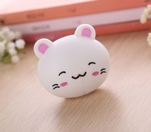 Cute Toothbrush Holder Suction Home Bathroom Lovely Cartoon Animal Head Storage