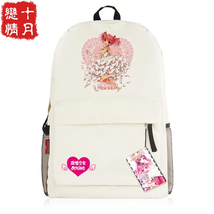 Anime Puella Magi Madoka Magica Cosplay  Kaname Madoka Cos Anime backpack boys and girls birthday gift<br>