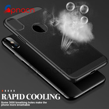 Buy Heat Dissipation Hard PC Matte Case iPhone X 8 7 6 10 Phone Cases Full Cover Cases iphone 8 7 6 6s Plus X Case Cape for $1.34 in AliExpress store