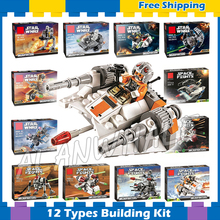 12 Types New Star Wars Avengers Starfighter Building Blocks Sets Model Children Kids Bricks Gifts Kit Compatible lego