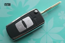 CYCTEM 2 Buttons Modified Flip Folding Remote Key Shell Car Keyless Entry Fob Cover Replacement Case Fit For Hyundai Elantra(China)
