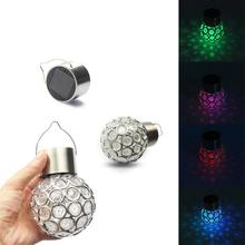 3pcs Outdoor Solar Light Lawn Camping Magic Ball LED for Garden Decoration Rainbow Color Party Lights Lanterns(China)