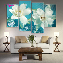 AtFipan  Unframed Flowers Painting Canvas Wall Spray Painting Modern Decorative Canvas Art Work Print On The Living Room Poster