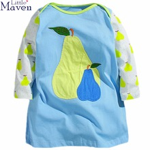 Little Maven Blocking color Long Sleeve Kids Dresses For Girls Spring Fall Good Quality Girls Clothes Children Dresses 1-6 Years