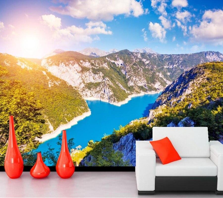 Montenegro Rivers Mountains Sky Scenery Clouds Nature wallpapers,restaurant living room TV sofa wall bedroom wallpaper murals 3d<br>