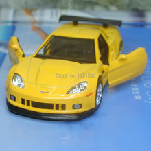 Brand New UNI 1/36 Scale USA Chevrolet Corvette Diecast Metal Pull Back Car Model Toy For Gift/Collection/Kids(China)