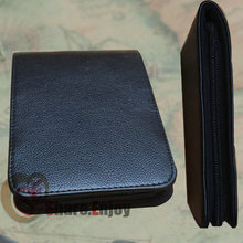 LUXURY BLACK 12 ROLLER AND FOUNTAIN PENS CASE HOLDER BINDER