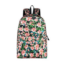 Korean floral Women Backpack For Teenagers Girls Students School Bags Lady Travel Laptop Backpack Brand Design Casual Daypack