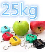 by dhl/fedex 50 pcs Apple hook scale Portable Mini Electronic Digital Hook Hanging Weighing portable Scales KG / OZ / Ib / jin(China)