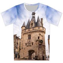 Joyonly 2018 Summer Boys Girls Clothes Blue Sky Printing T-shirts Children  Castle T shirts Cool Design Tops Tees Baby tshirt 99d3d9646bfe