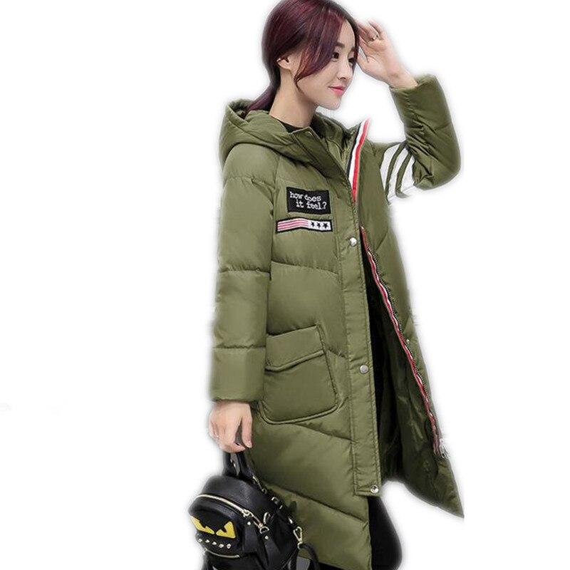 2017 Fashion Winter Women Down Cotton Medium-Long Jacket Parka Female Hooded Thicken A-Line Style Cotton Outerwear Parkas CQ436Îäåæäà è àêñåññóàðû<br><br>