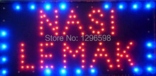 2017 Special Offer Hot Sale Graphics 15.5X27.5 Inch indoor Ultra Bright running  NASI LEMAK business shop open signs of Led-