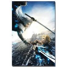 Sephiroth VS Cloud Final Fantasy XV Art Silk Fabric Poster Print 13x20 24x36 inch Game Pictures for Living Room Wall Decora 05