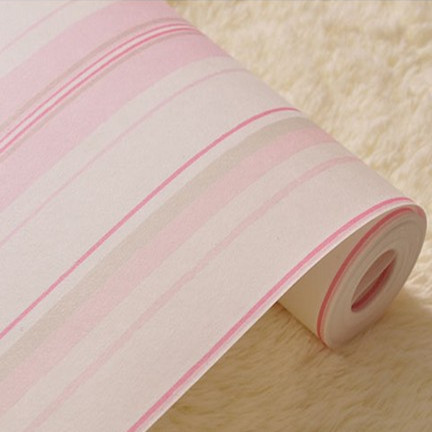 Pink Striped Wallpaper Roll for Girl Kid Room papel de parede decor bedrooms<br>