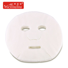 50 pcs beauty full face mask paper natural disposable cotton non-woven fabric DIY facial masque sheet whitening moisturizing(China)