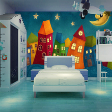 Children's Room Wall Painting Background Mural Cartoon Photo Wallpaper Kids' Room Home Decor Wall Coating 3D Colorful Wall Paper