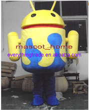 New arrival 2014 Cartoon Character cute android robot mascot Costume fancy dress party costume adult size