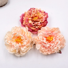 1pcs 14cm Silk Artificial Flower Peony Flower DIY Home Decor Hairpin Flower arrangement Movie  TV show Hair Ornament Slippers H
