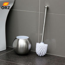 ORZ Spherical Stainless Steel Toilet Brush Holder Set Bathroom Cleaning Accessories Tools WC Toilet Brush Cleaner Kit(China)